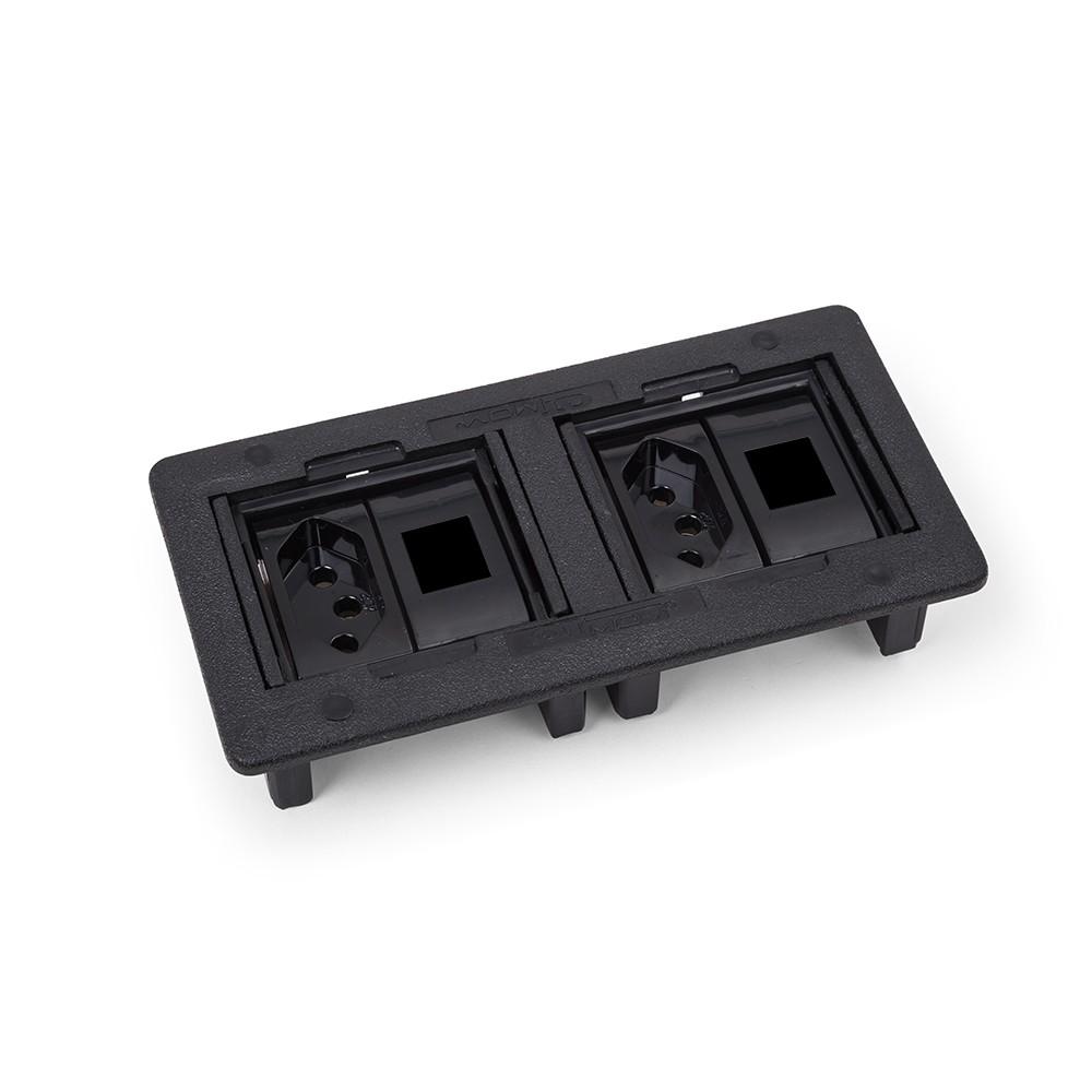 Caixa de Tomada para Mesa 2PT2Rj45 ABS QM 300100 - Dutotec