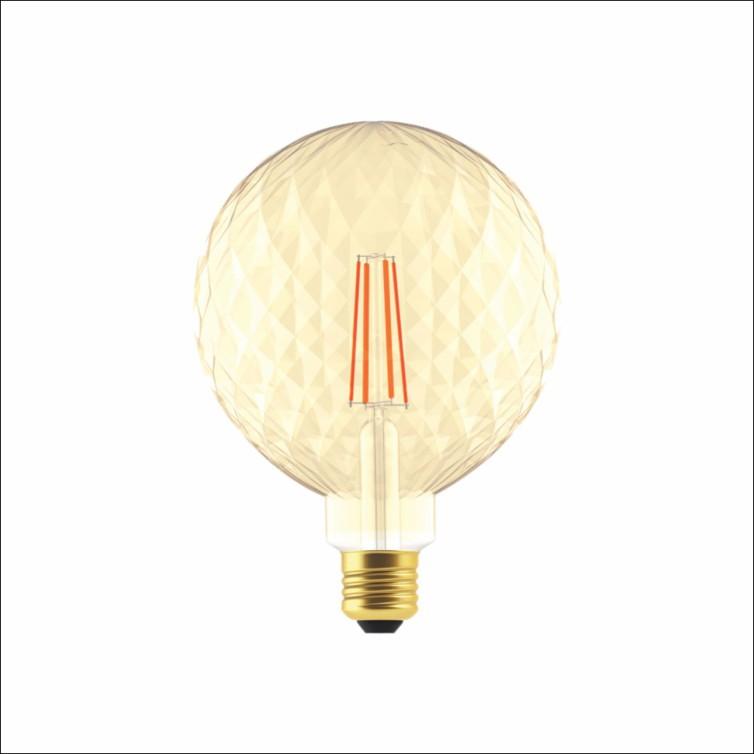 Lampada LED Bulbo 4w Luz Amarela E27 P125 - Glight