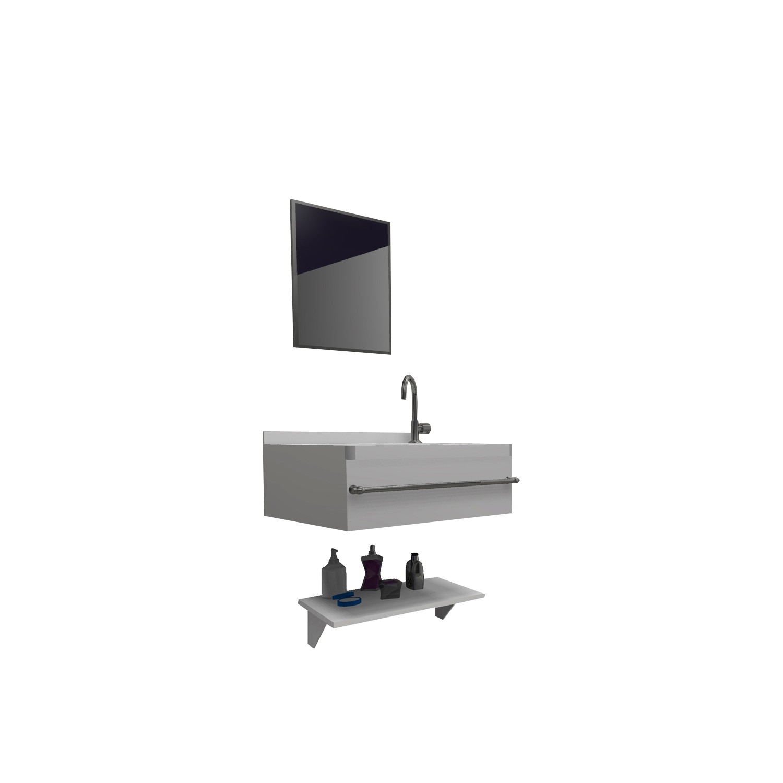 Gabinete para Banheiro 39x295cm Branco - Policlass