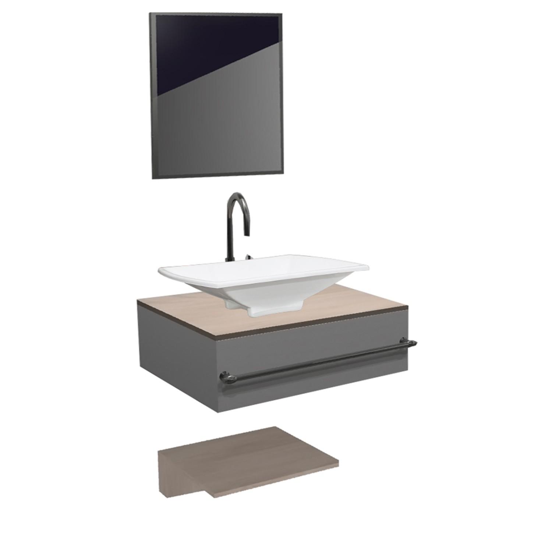 Gabinete para Banheiro 49x40cm Avant Branco e Delicato - Policlass