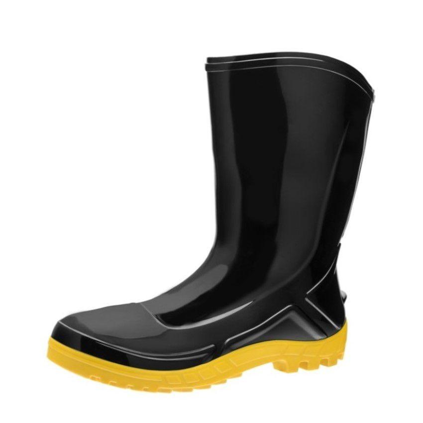 Bota de PVC Numero 44 Solado Amarelo - Vulcaflex - Marluvas