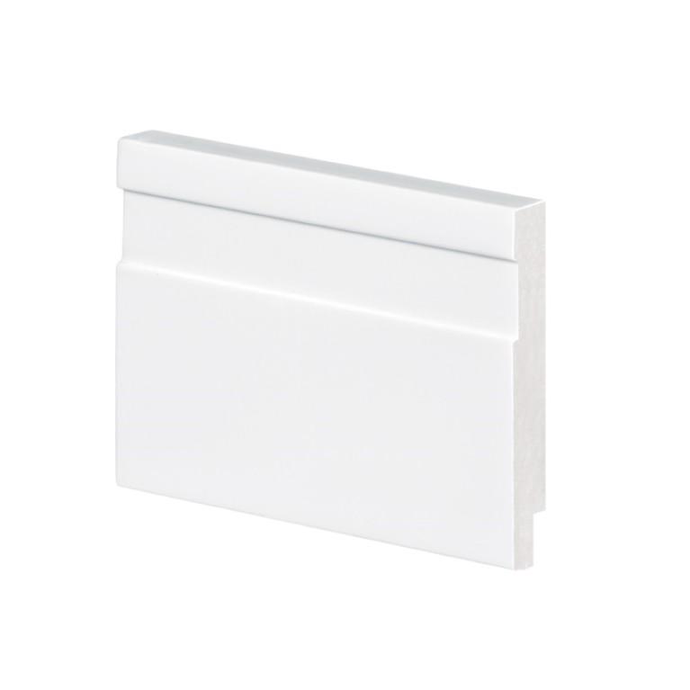 Rodape 7 x 200 cm Poliestireno Slim Branco - Arquitech