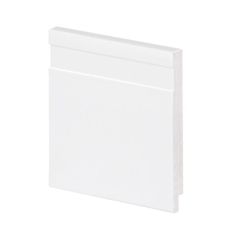 Rodape 10 x 200 cm Poliestireno Slim Branco - Arquitech