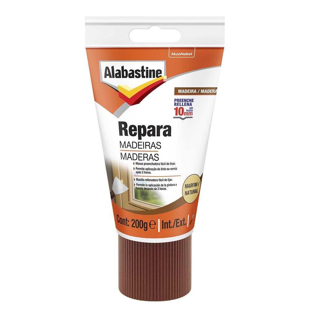 Massa Reparadora para Madeira Alabastine - Marfim - Bisnaga 200g - Akzonobel