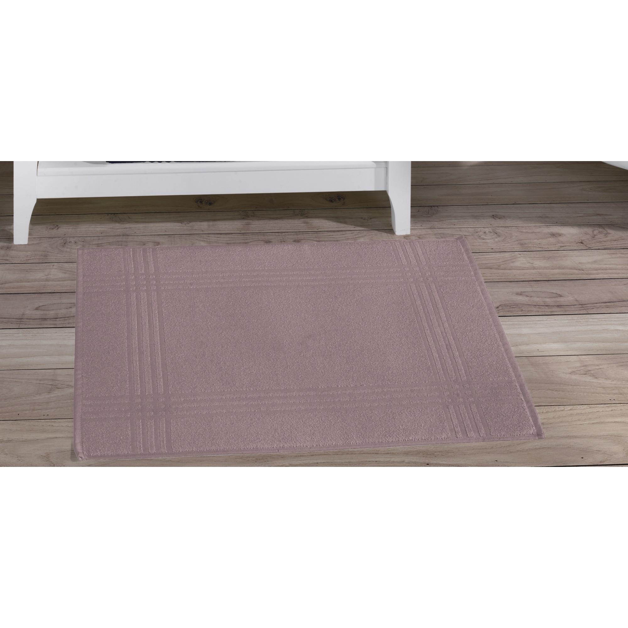 Toalha de Piso Tramas 50 x 70 cm 100 algodao Rose - Buettner