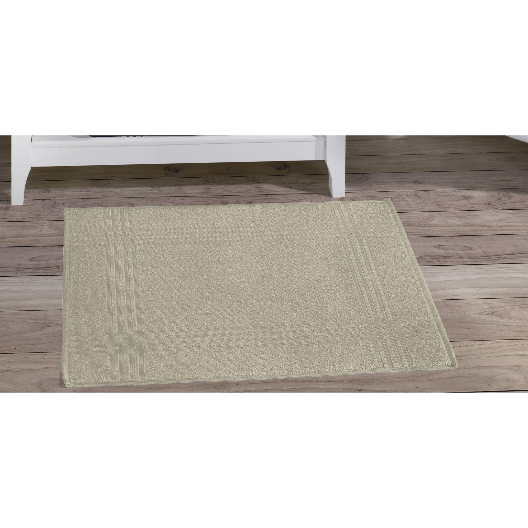Toalha de Piso Tramas 50 x 70 cm 100 algodao Palha - Buettner