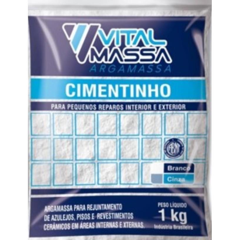 Cimento Cinza Saco 1kg - Vitalmassa