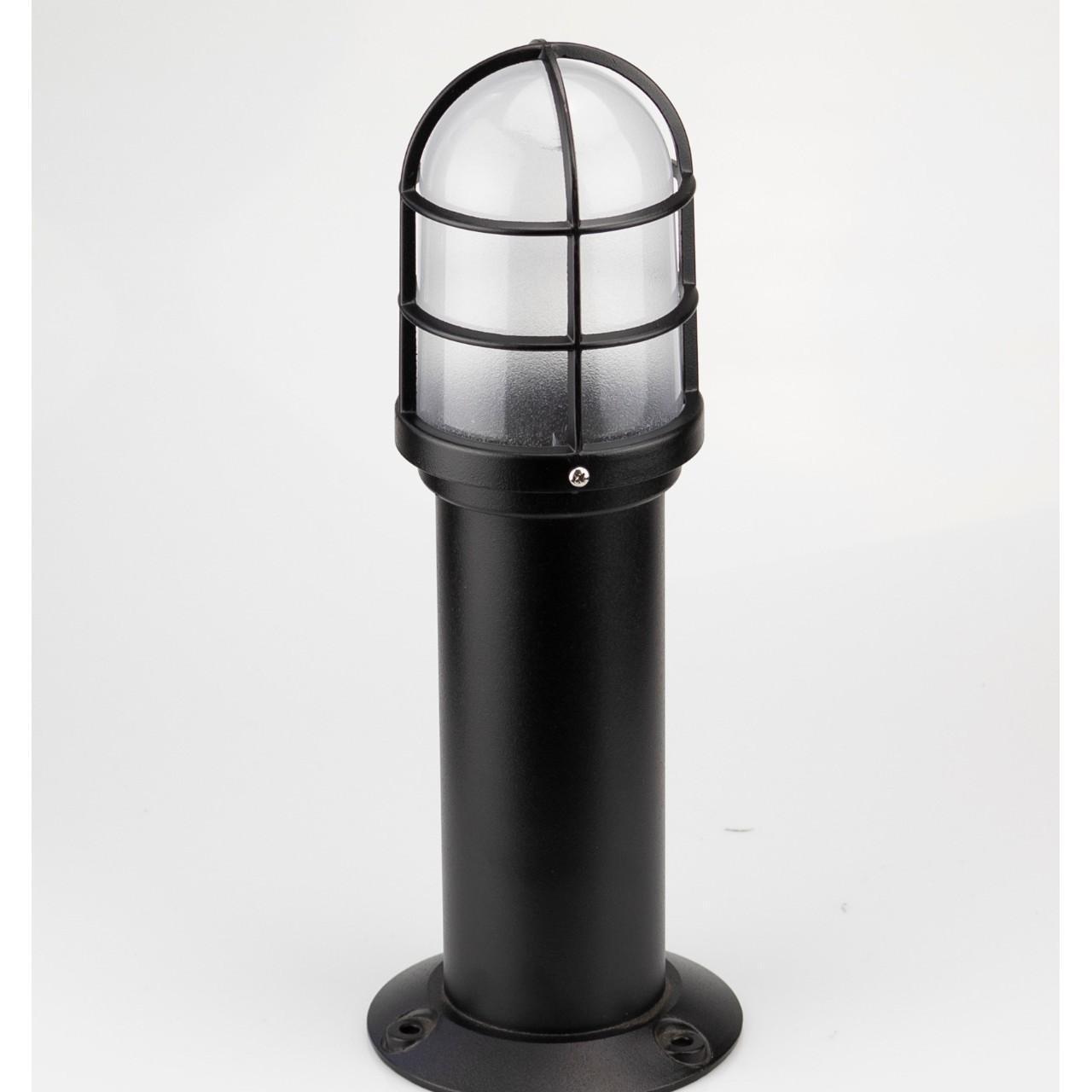 Poste para Jardim Oval em Aluminio 35cm E27 Preto - Germany