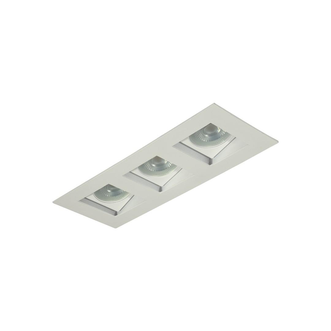 Spot de Embutir Aluminio Branco Bivolt 7023 - Goli