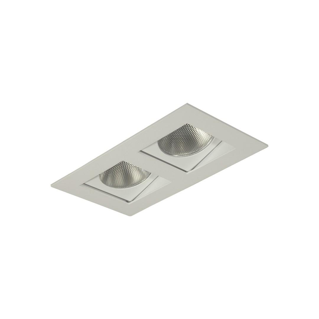 Spot de Embutir Aluminio Quadrado Branco Bivolt 7032 - Goli