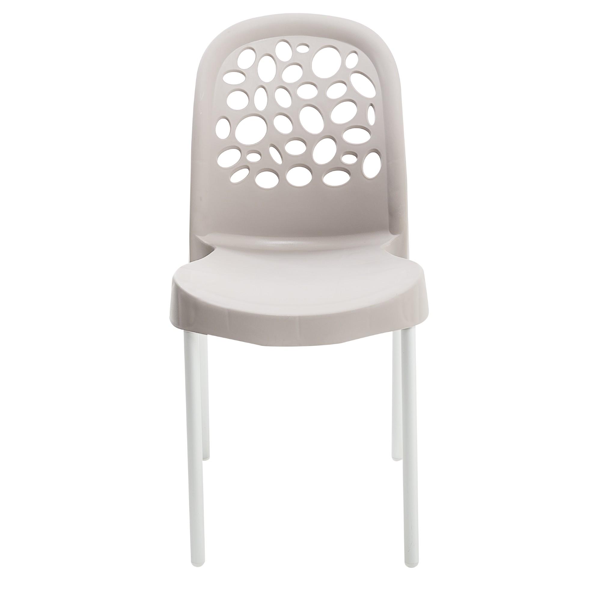 Cadeira Deluxe de Polipropileno Nude - Forte Plastico
