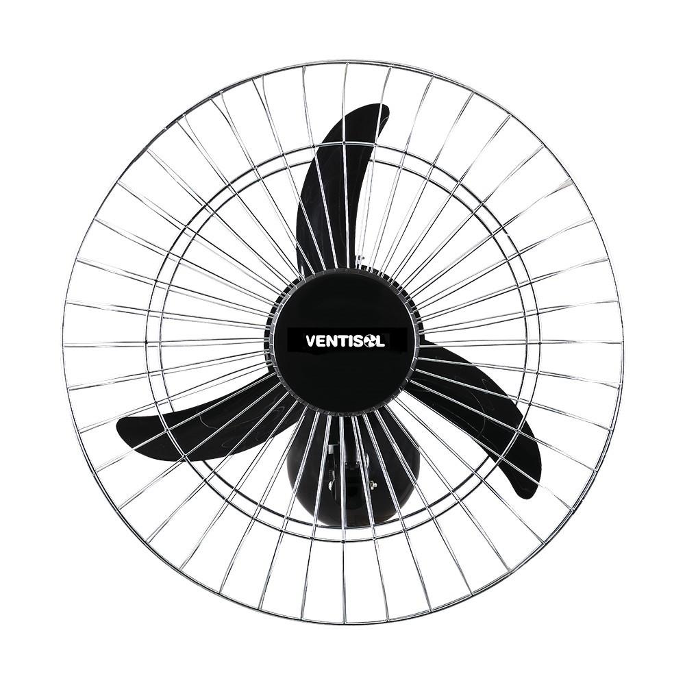 Ventilador de Parede 60 cm Aco Preto 220V - 107 - Ventisol