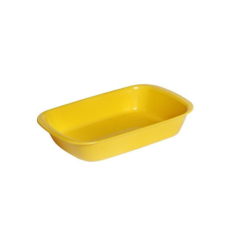 Travessa de Plastico 23x14cm Amarela - Vem Plast