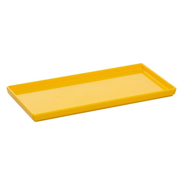 Prato Raso de Plastico Amarelo 13x27cm - Vem Plast