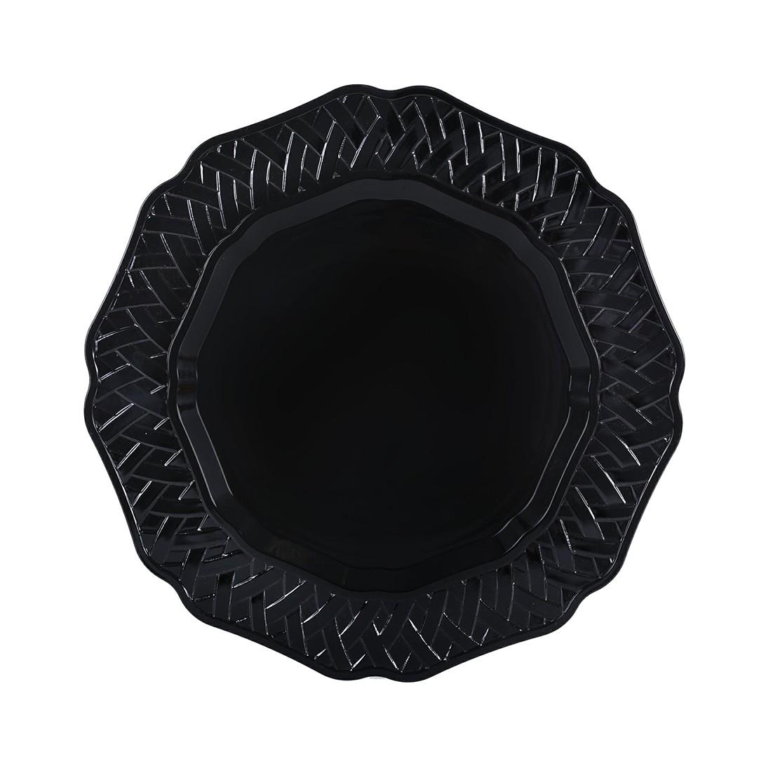 Sousplat Redondo Plastico 33cm Preto 41377-100 - G Presentes