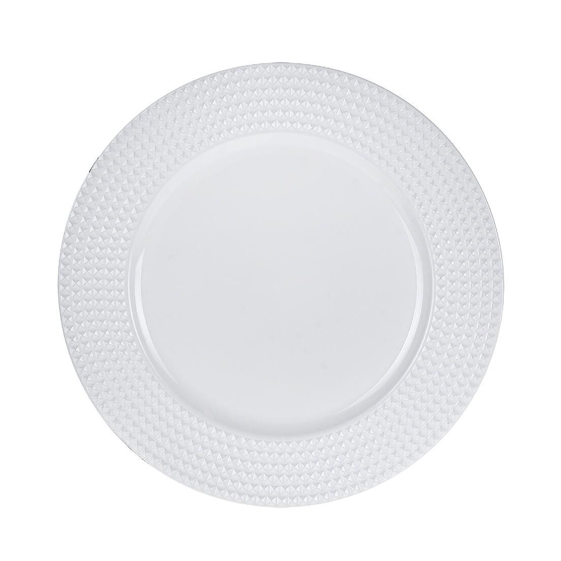 Sousplat Redondo Plastico 33cm Branco 43692-008 - G Presentes