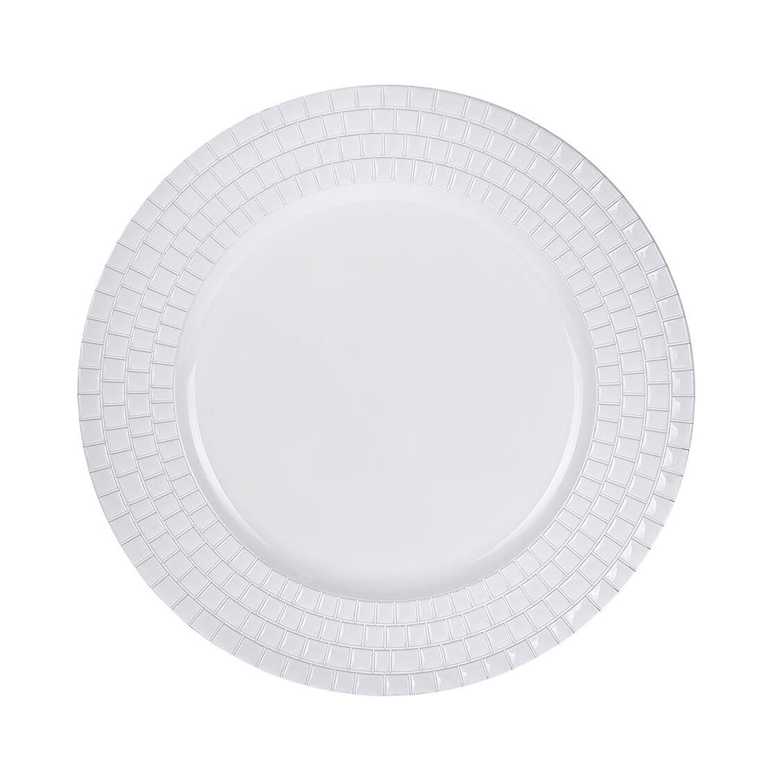 Sousplat Redondo Plastico 33cm Branco 43697-008 - G Presentes