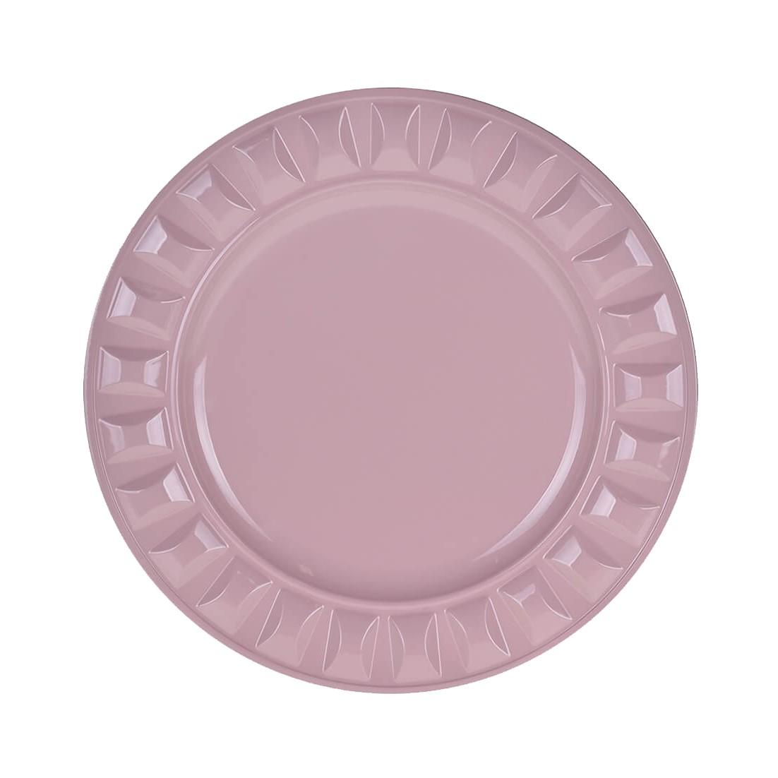 Sousplat Redondo Plastico 33cm Rosa - G Presentes