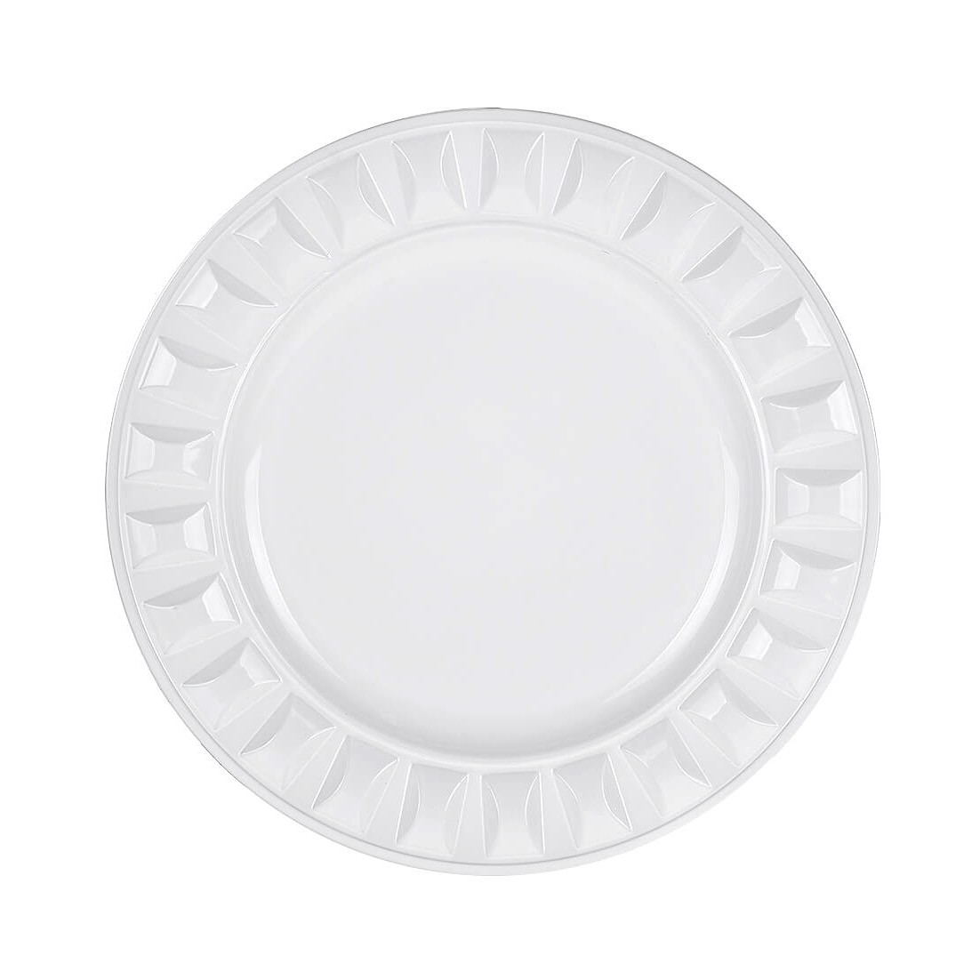 Sousplat Redondo Plastico 33cm Branco 44615-008 - G Presentes