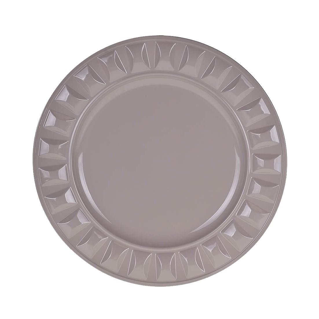Sousplat Redondo Plastico 33cm Bege 44615-040 - G Presentes