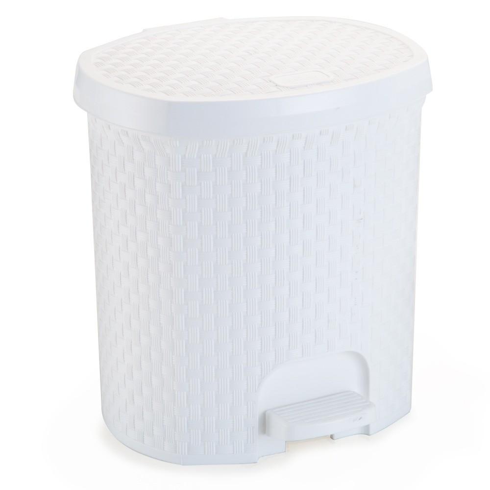 Lixeira com Pedal Oval Plastico 60L Branca - Nitron