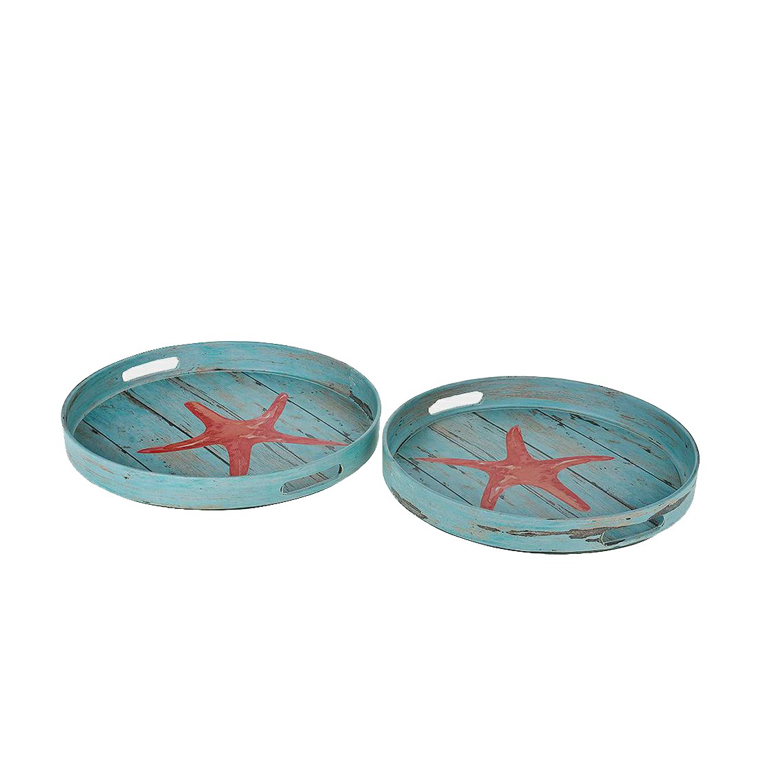 Bandeja Redonda de Plastico 35cm Azul Claro - GPresentes