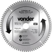 """Disco de Serra De Esquadria 10"""" (250x2,0x30,00mm 80 Dentes - Vonder"""
