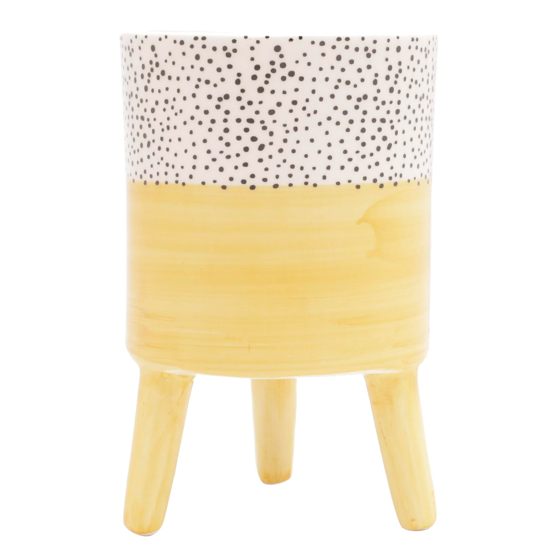 Vaso Decorativo Ceramica 15cm Redondo Amarelo 43859 - Urban
