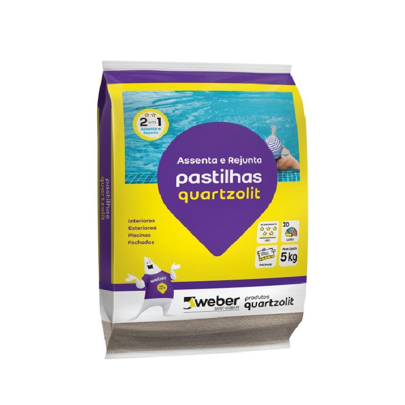 Argamassa Pastilha Branco 5kg - Quartzolit