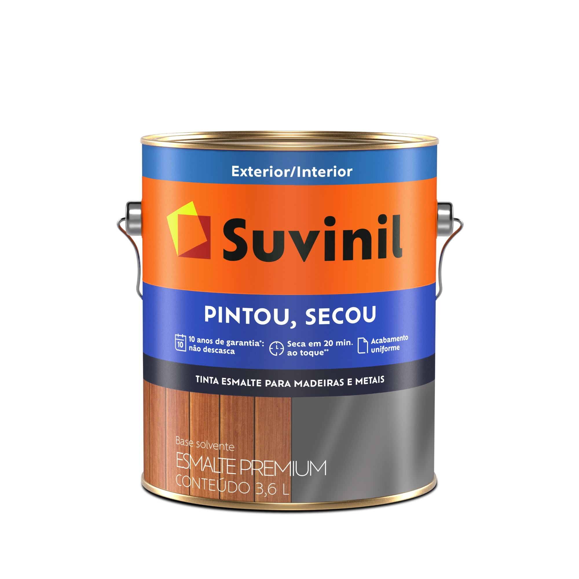 Tinta Esmalte Sintetico Brilhante Premium 36L - Amarelo - Ouro - Pintou Secou Suvinil