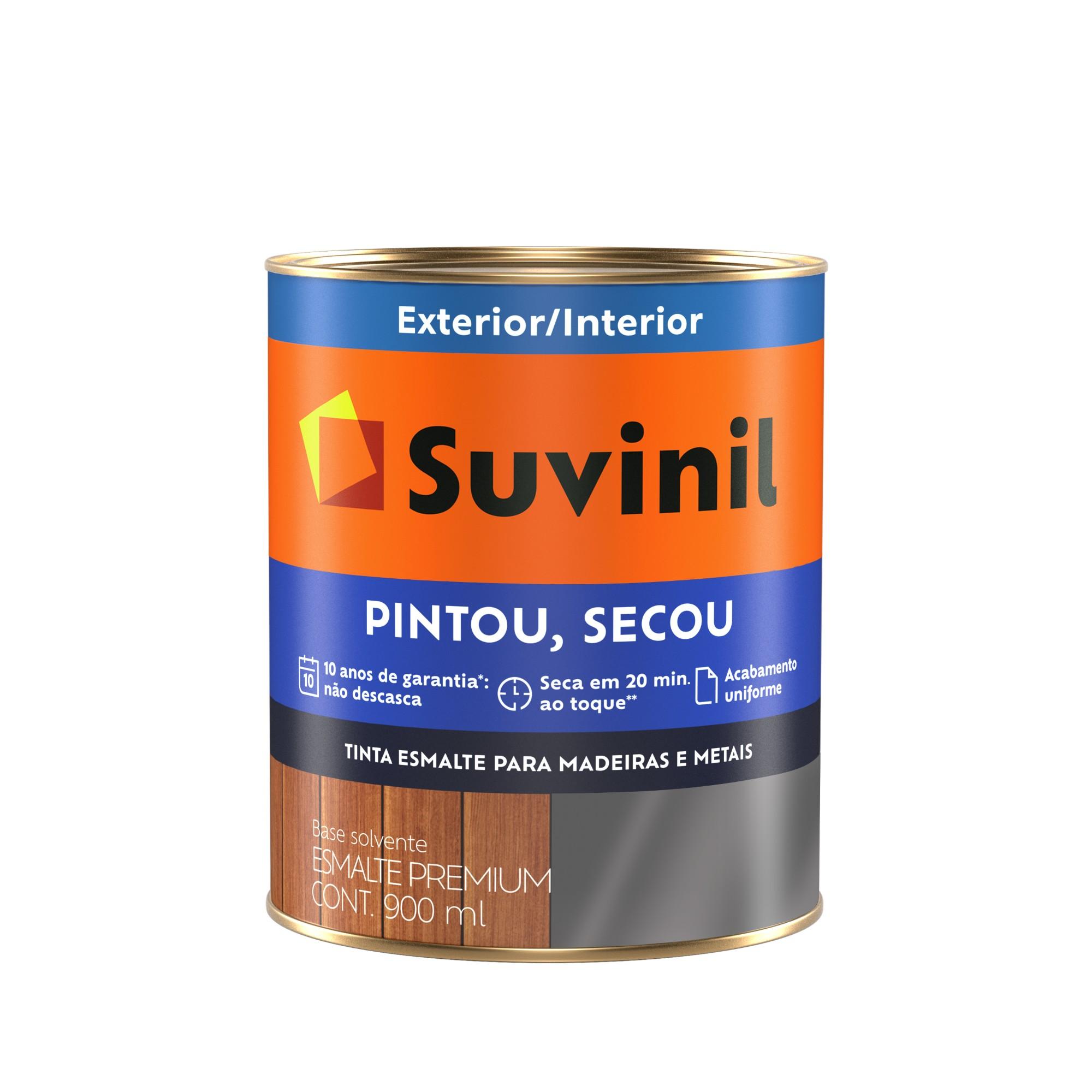 Tinta Esmalte Sintetico Brilhante Premium 09L - Cinza Medio - Pintou Secou Suvinil