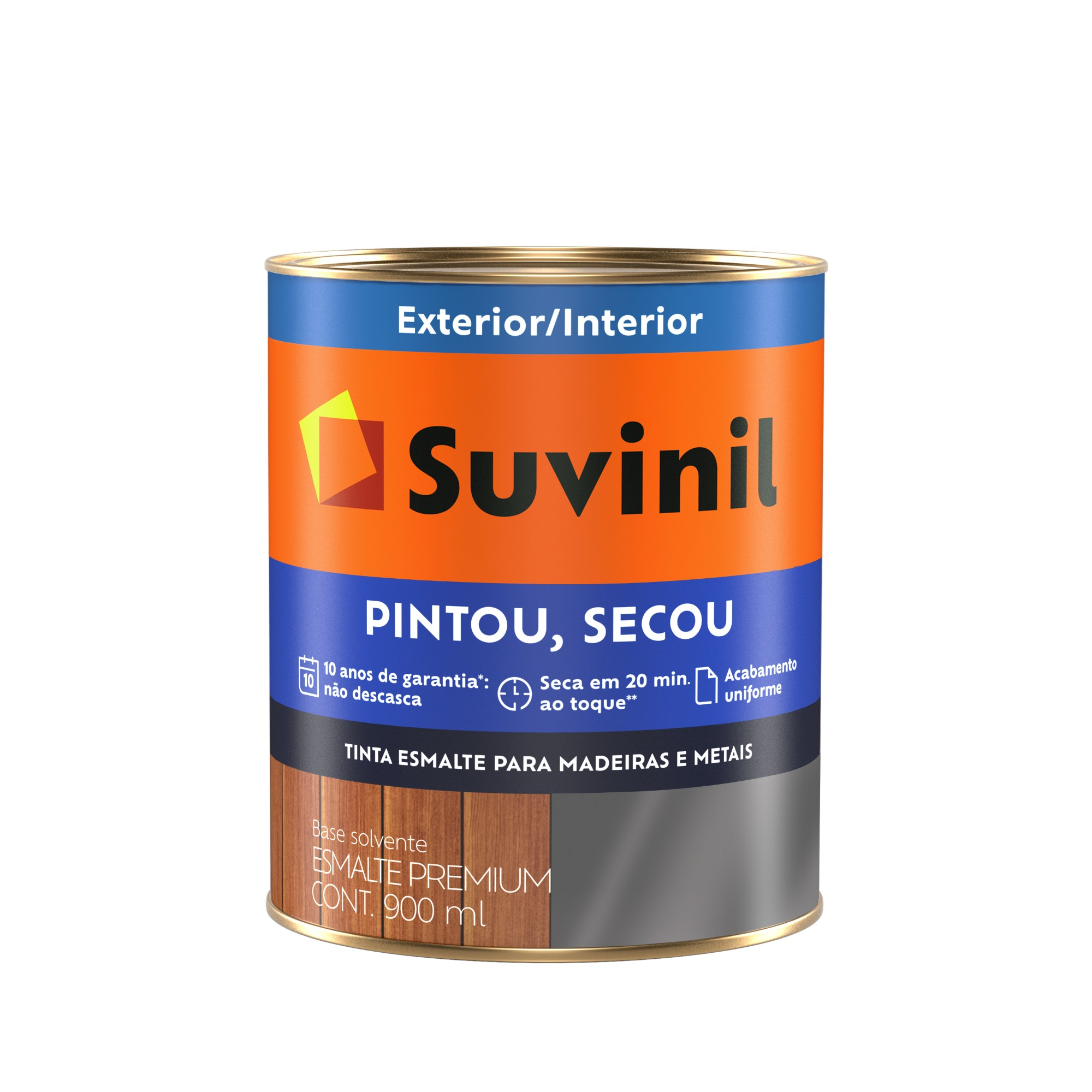 Tinta Esmalte Sintetico Brilhante Premium 09L - Gelo - Pintou Secou Suvinil