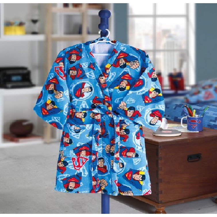 Roupao de Banho 100 algodao Infantil Superman P com Cinto - Dohler