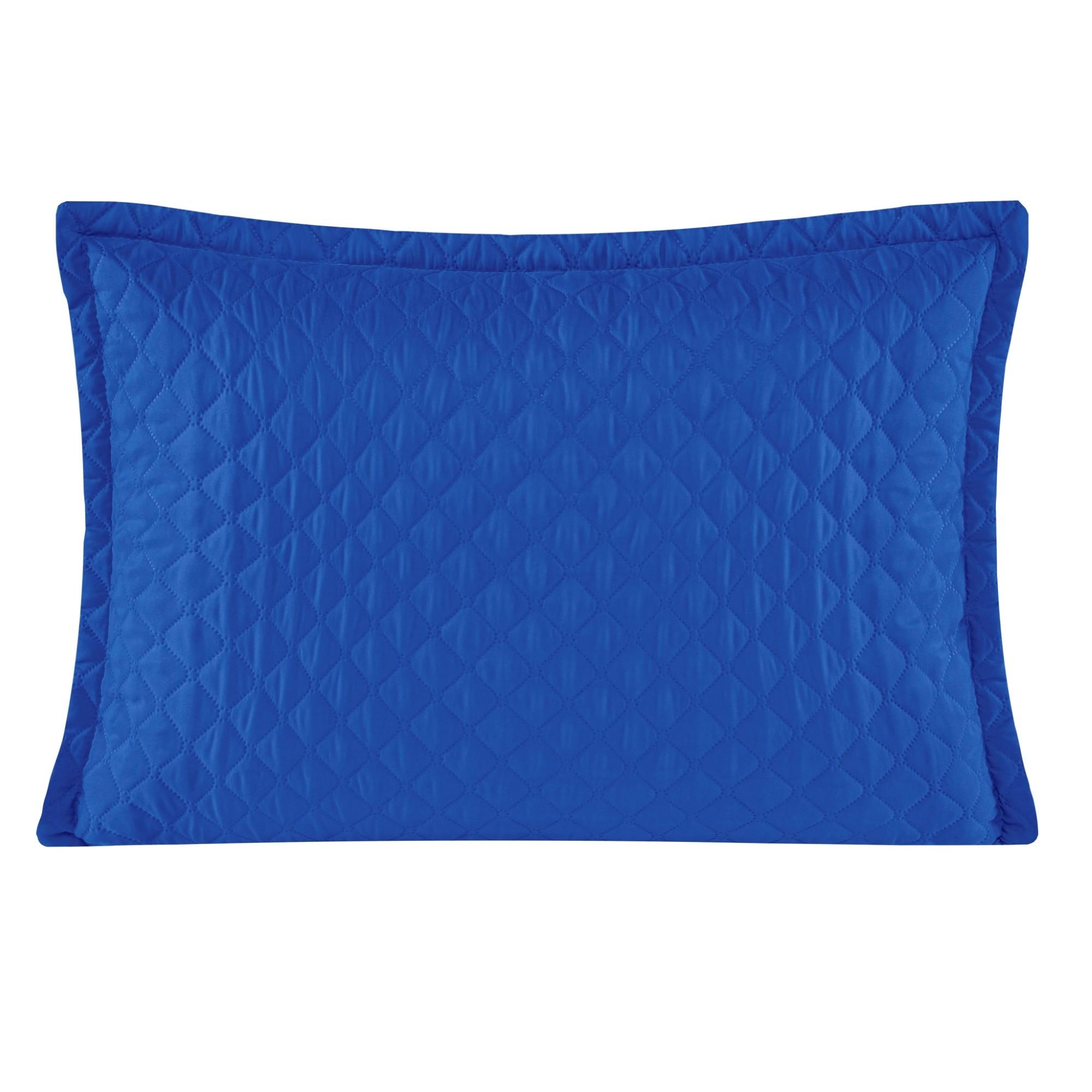 Porta Travesseiro 50 x 70 cm Delicata Azul - Yohana