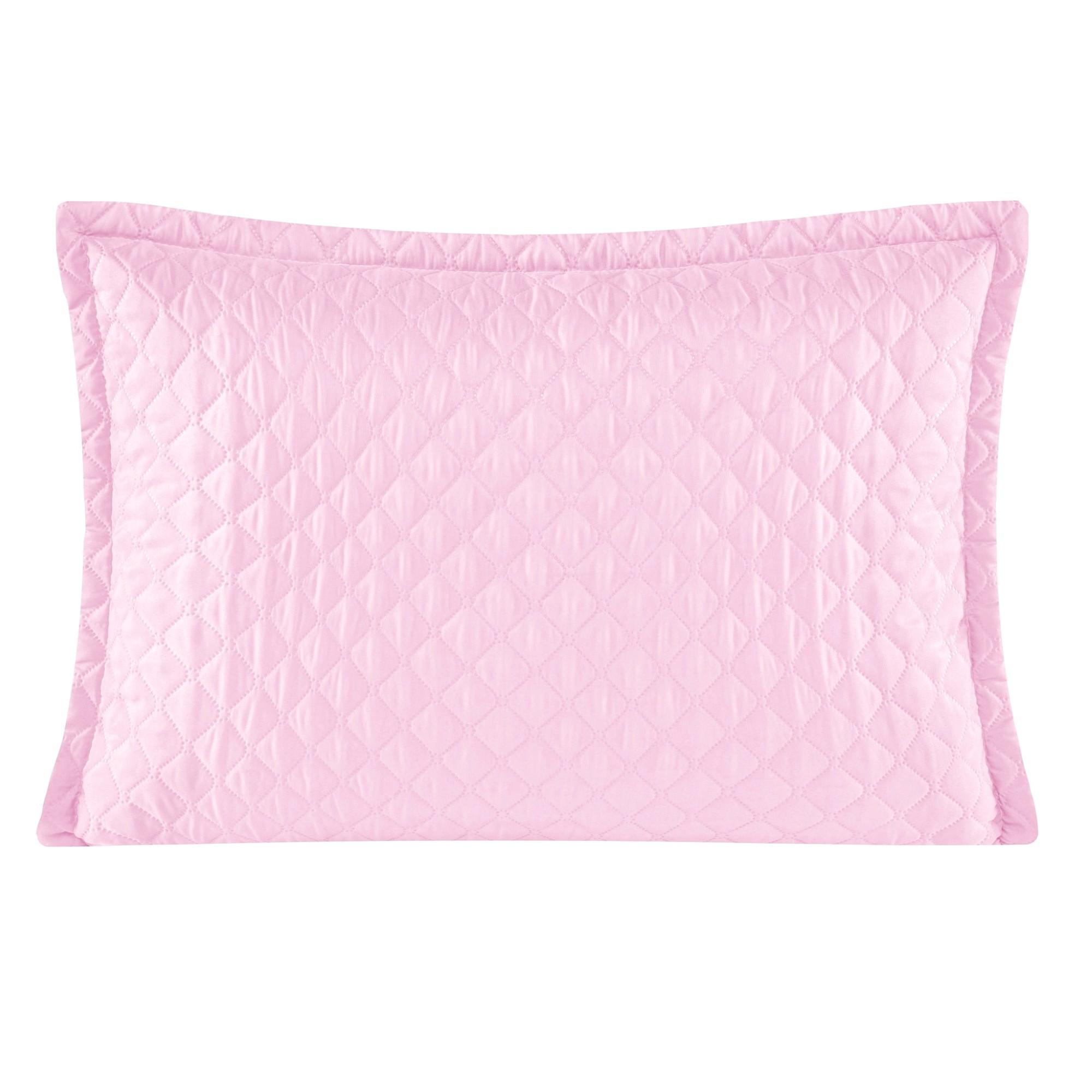 Porta Travesseiro 50 x 70 cm Delicata Rosa - Yohana