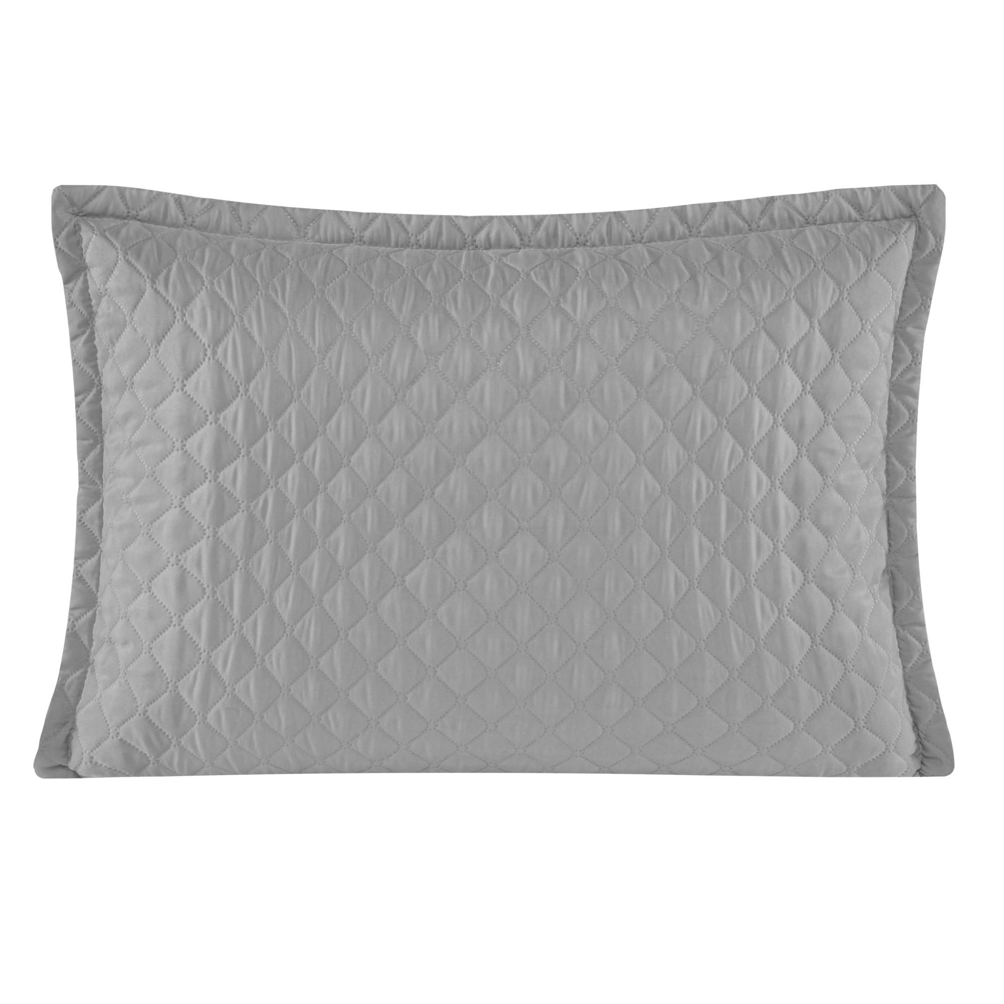 Porta Travesseiro 50 x 70 cm Delicata Cinza - Yohana