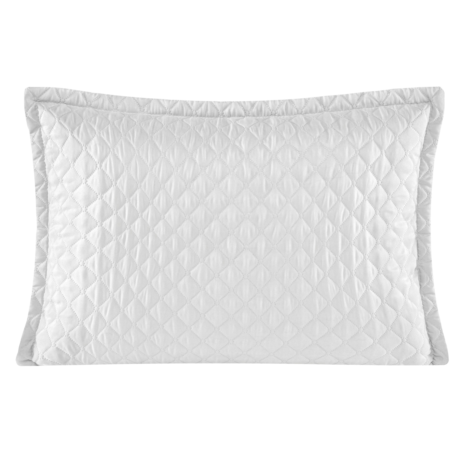 Porta Travesseiro 50 x 70 cm Delicata Branco - Yohana