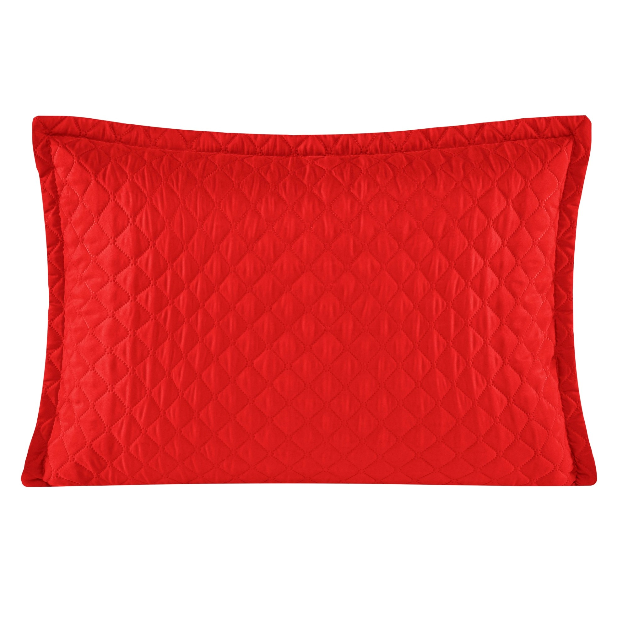 Porta Travesseiro 50x70 cm Delicata Vemelho - Yohana