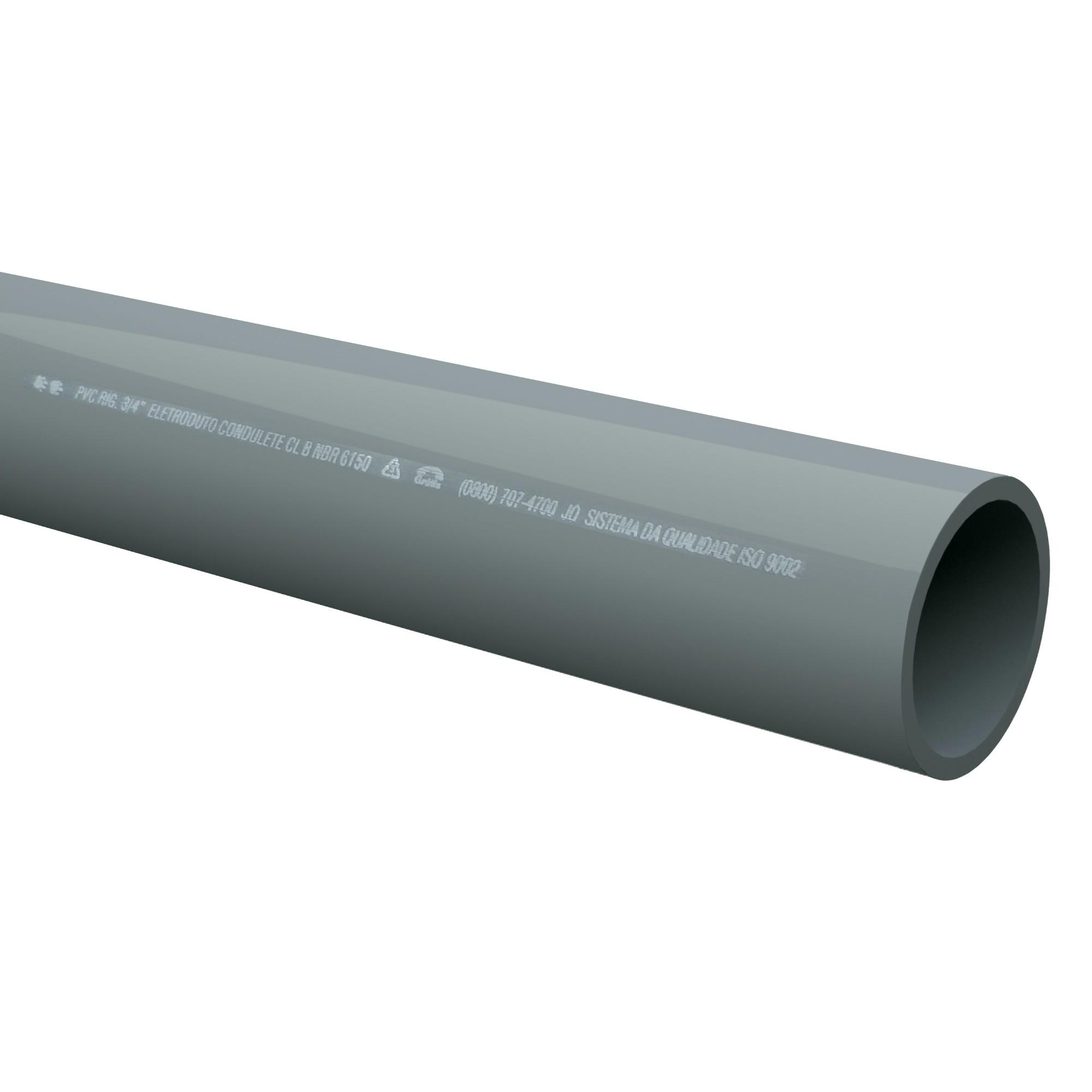 Eletroduto Rigido PVC Sem Rosca 34 30m - Tigre