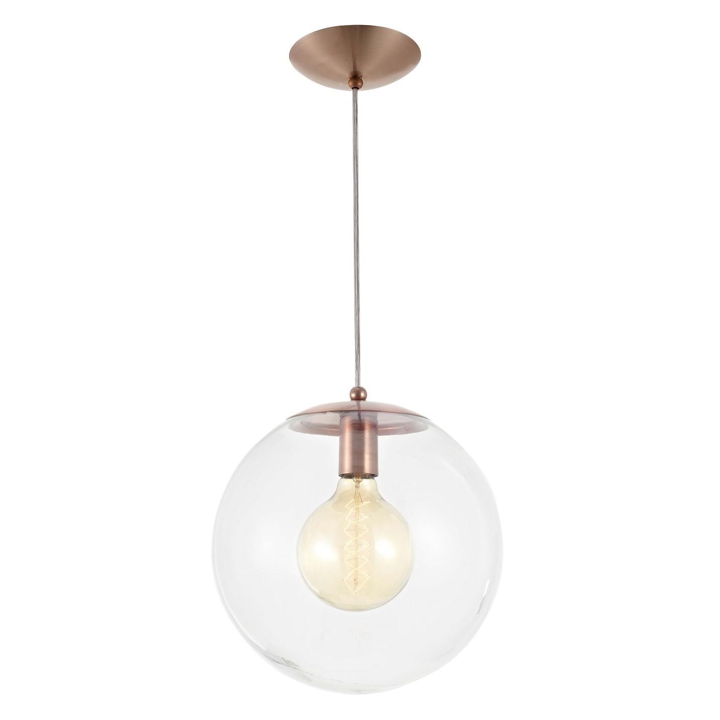 Pendente Esfera 30 cm 1 Lampada Cobre - Madelustre