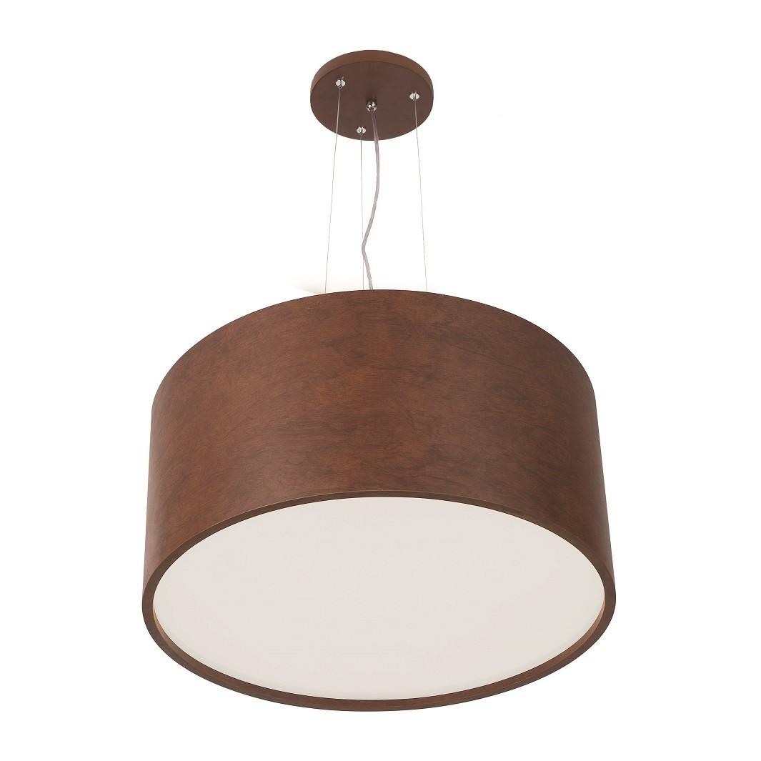 Pendente Navi Rust Madeira 53 cm 4 Lampadas - Madelustre