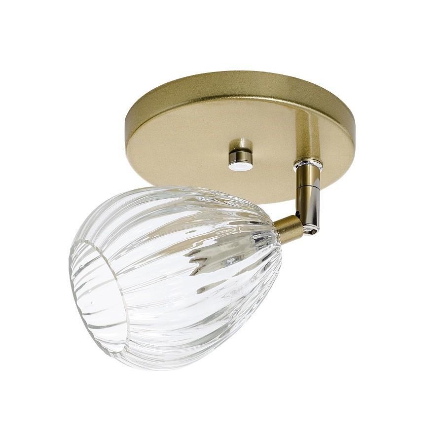 Spot de Sobrepor Alice G9 1 Lampada Bivolt Dourado - Madelustre