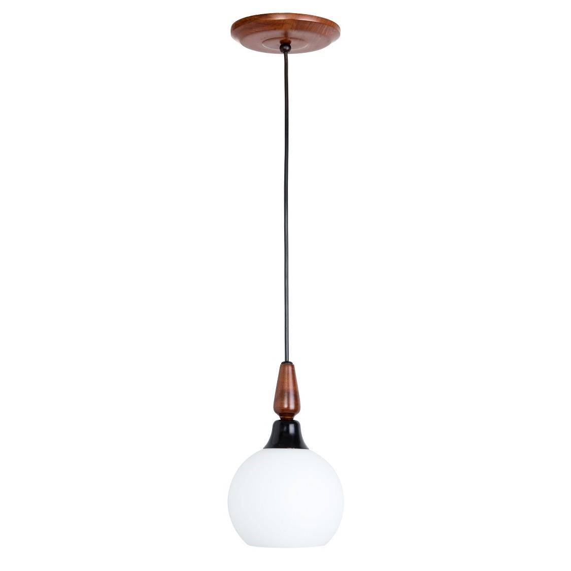 Pendente Country 15 cm 1 Lampada Imbuia - Madelustre