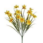 Buquê Artifical de Mini Lírios 33cm Amarelo  - G.Presentes