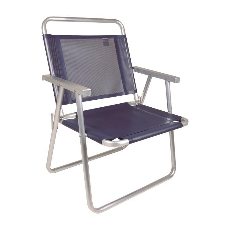 Cadeira Oversize Aluminio Azul Escuro - Mor