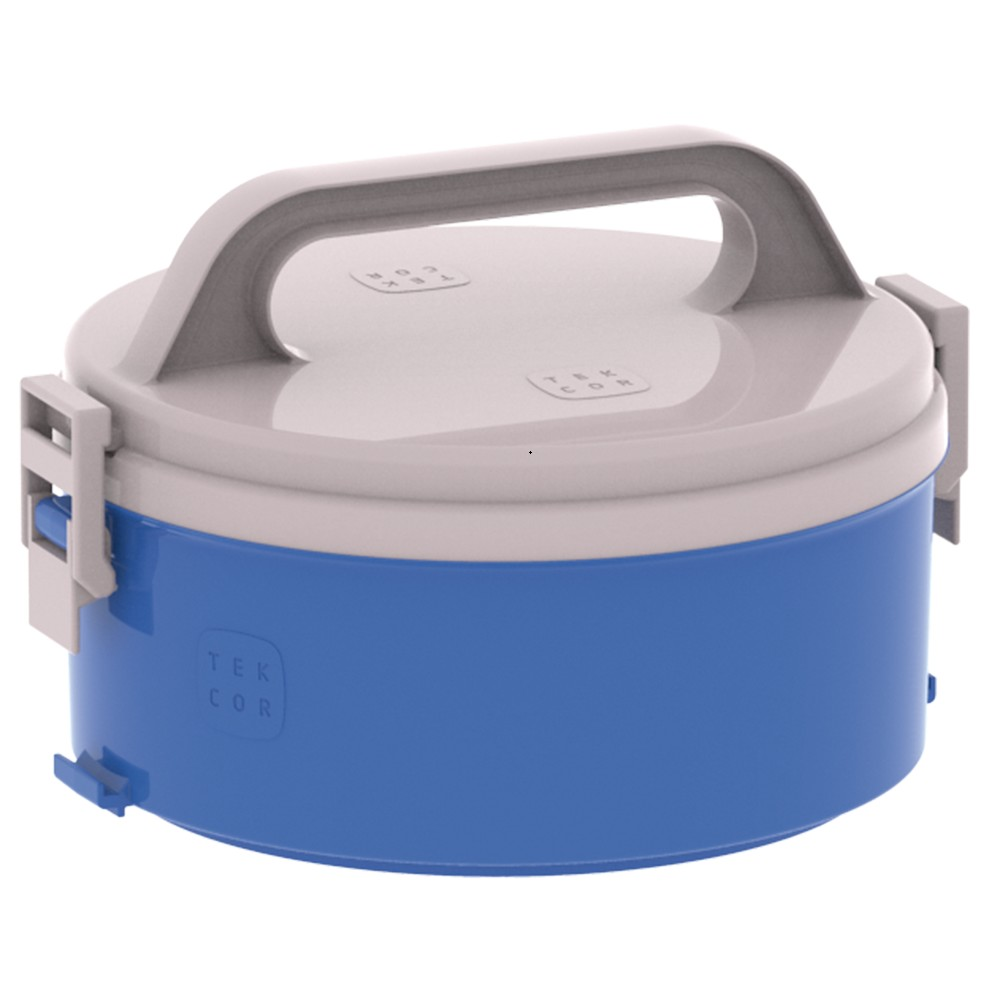 Marmita Termica de Plastico Redondo Azul 2 Divisorias - Soprano