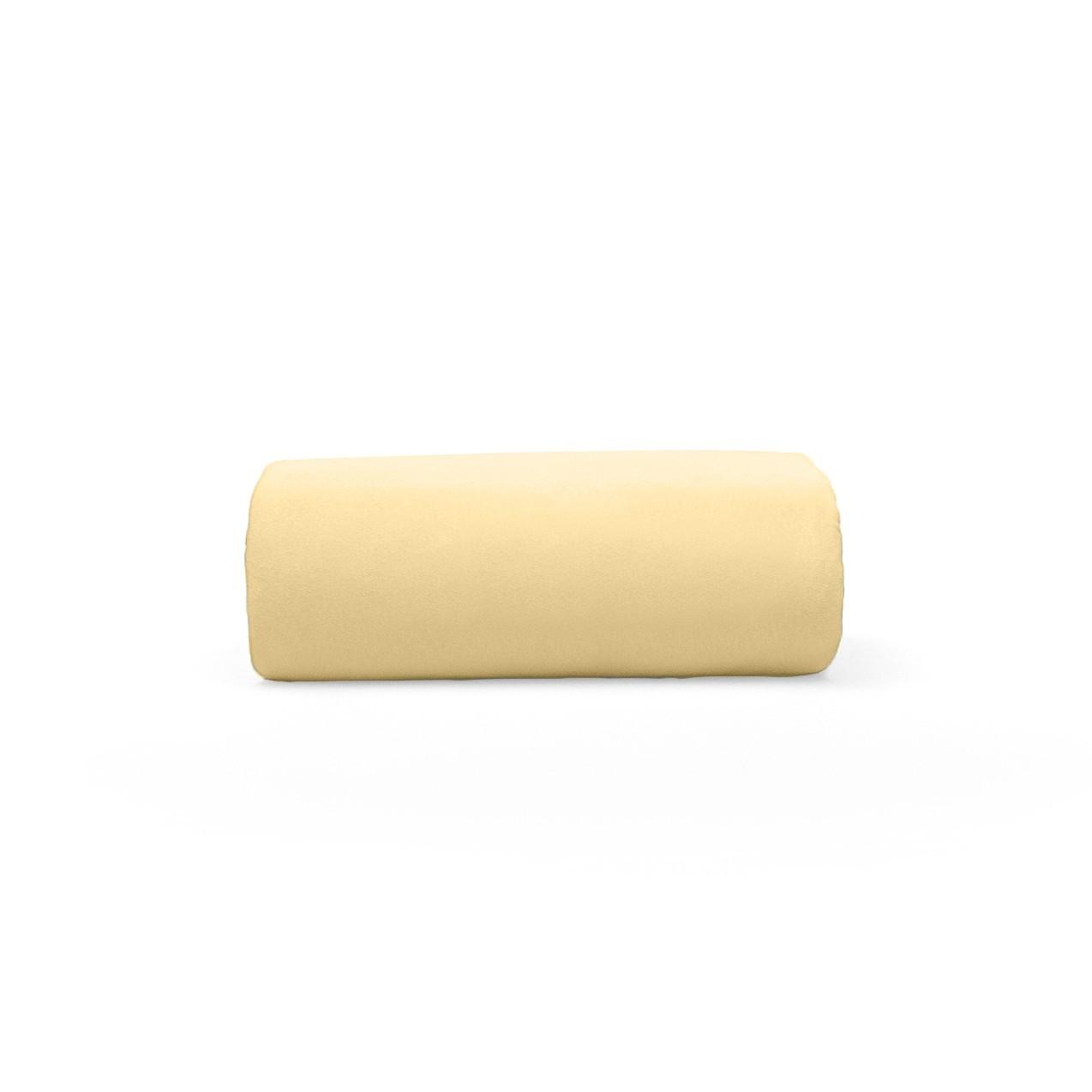 Lencol Casal Mel sem Elastico 100 algodao Rolinho Amarelo - Buettner
