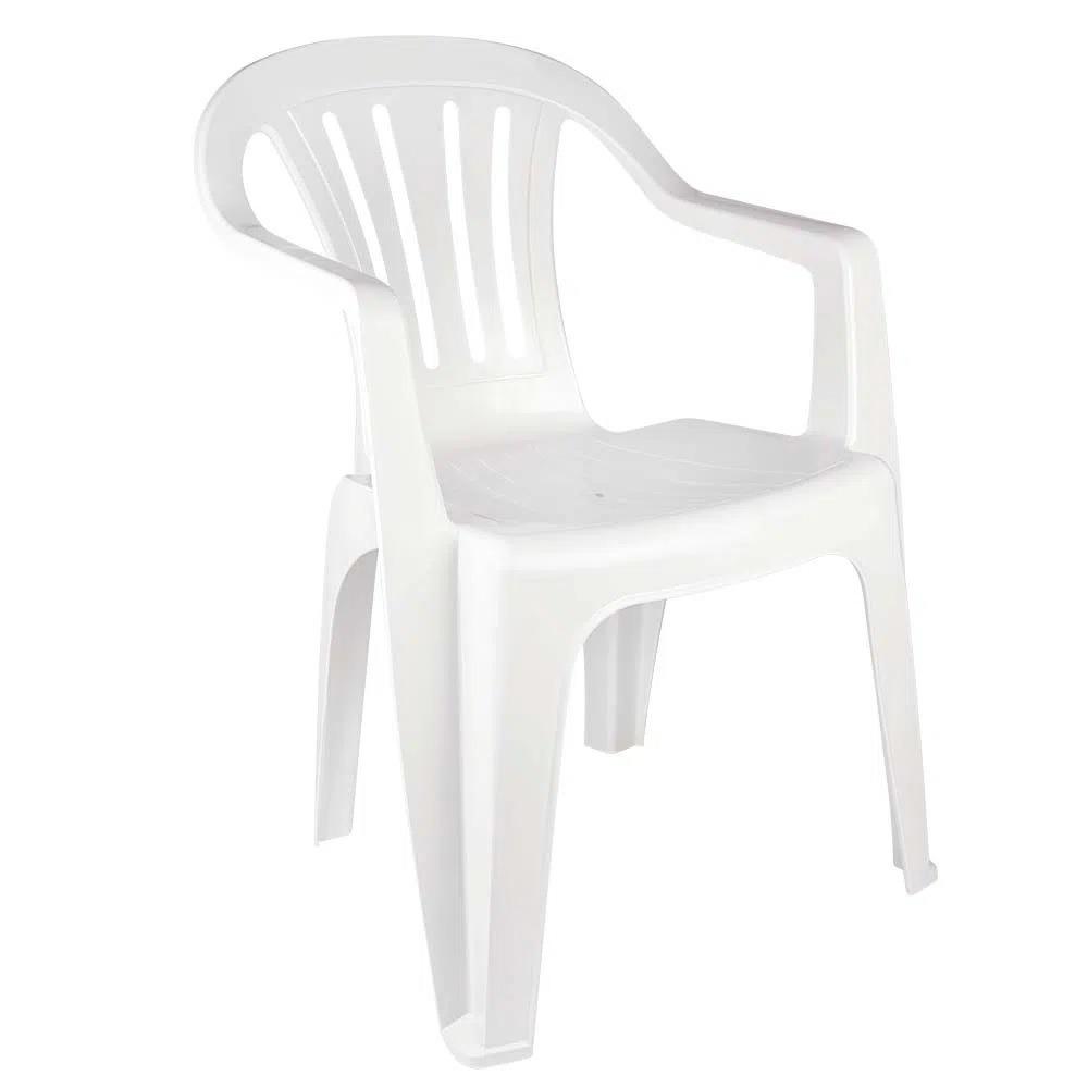 Poltrona Plastica Bela Vista Branca - Mor