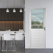 Porta de Abrir de Alumínio Basculante 210x90cm Branca Lado Direito - 33787 - Aluvid