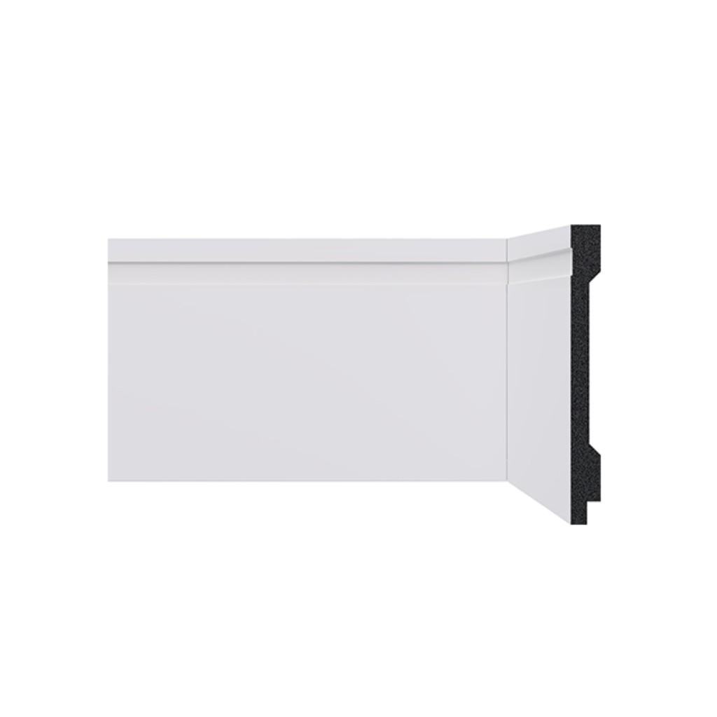 Rodape 13 x 240 cm Poliestireno Branco - Santa Luzia